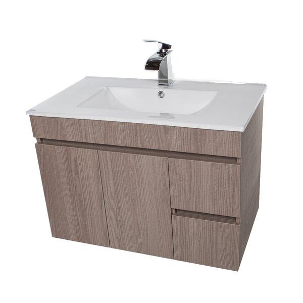 Lofland 41 Wall Mounted Single Bathroom Vanity Set by Ivy Bronx