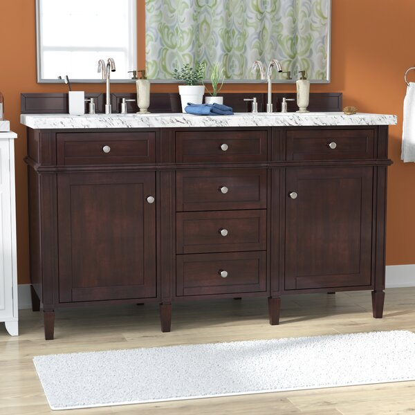 Deleon 60 Double Burnished Mahogany Bathroom Vanity Set by Darby Home Co