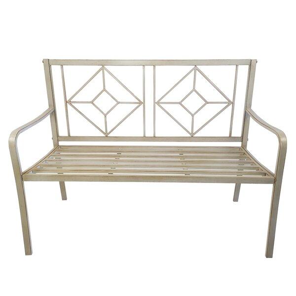 Dutra Patio Steel Garden Bench by Mercer41 Mercer41