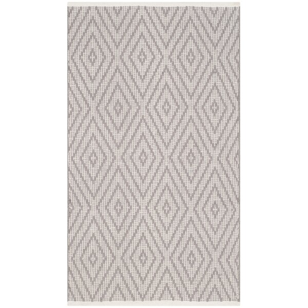 Alastair Hand-Woven Grey/Ivory Area Rug by Highland Dunes