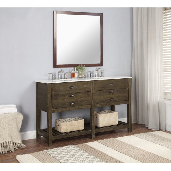 Lafave 2 Drawer 57 Double Bathroom Vanity by Mercer41
