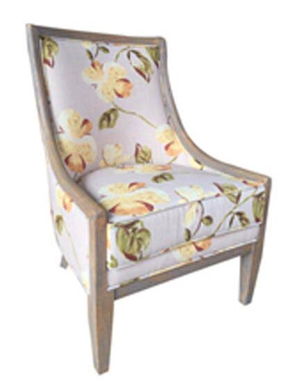 Lars Floral Slipper Chair by One Allium Way