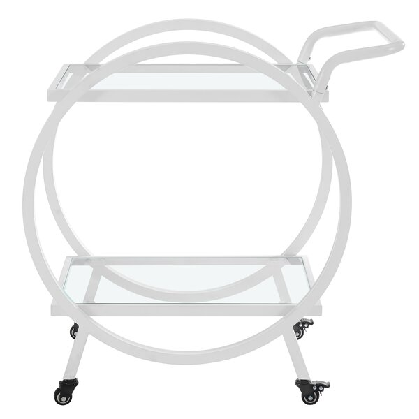 Ladner Round Frame Bar Cart by Mercury Row