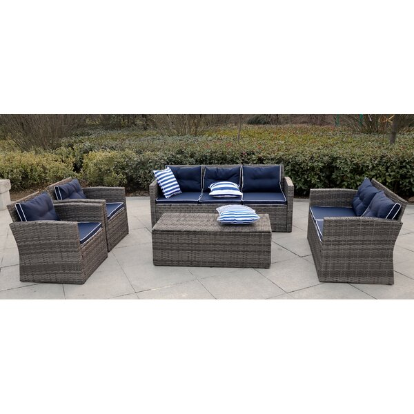 Mireya Sectional Seating Group with Cushions by Longshore Tides