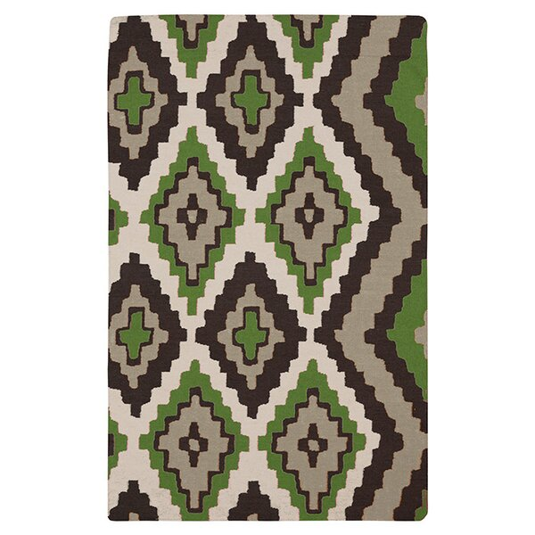 Alameda Black & Green Area Rug by Beth Lacefield for Surya