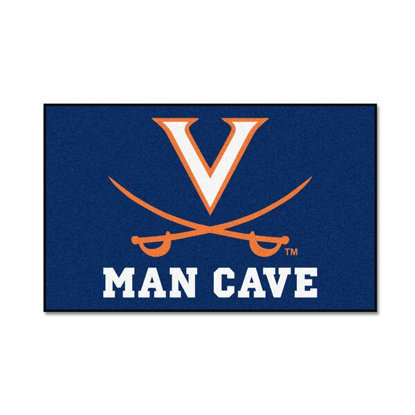 Collegiate NCAA University of Virginia Man Cave Doormat by FANMATS