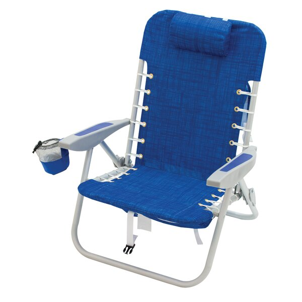 Deerfield 4-Position Lace-Up Backpack Reclining Beach Chair by Freeport Park Freeport Park