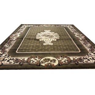 Hand-Carved Green Area Rug ByRug Tycoon