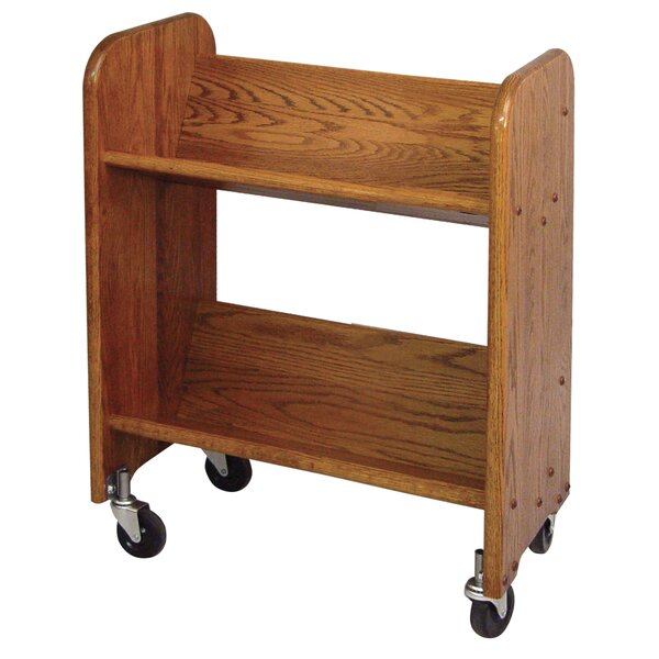 Sloped-Shelf Book Cart by Catskill Craftsmen, Inc.