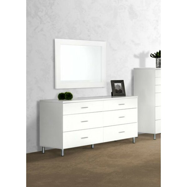 Elettra 6 Drawer Double Double Dresser by Wade Logan