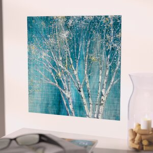 Blue Birch Painting Print by Red Barrel Studio