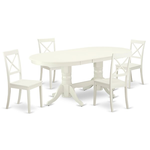 Boisdale 5 Piece Extendable Solid Wood Dining Set By Winston Porter