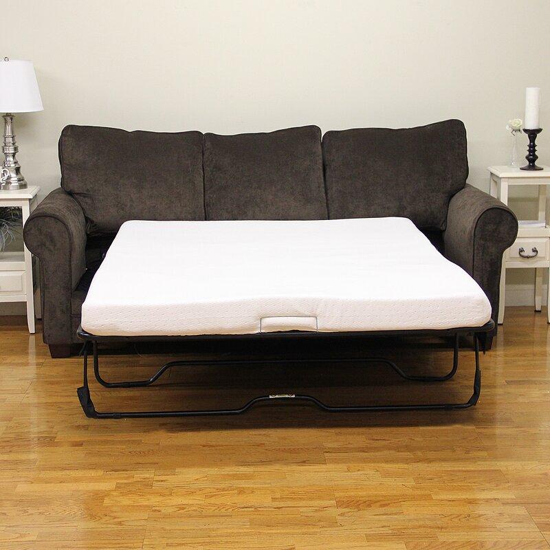 Classic Brands Plush Memory Foam Mattress Reviews Wayfair - Sofa bed with memory foam mattress