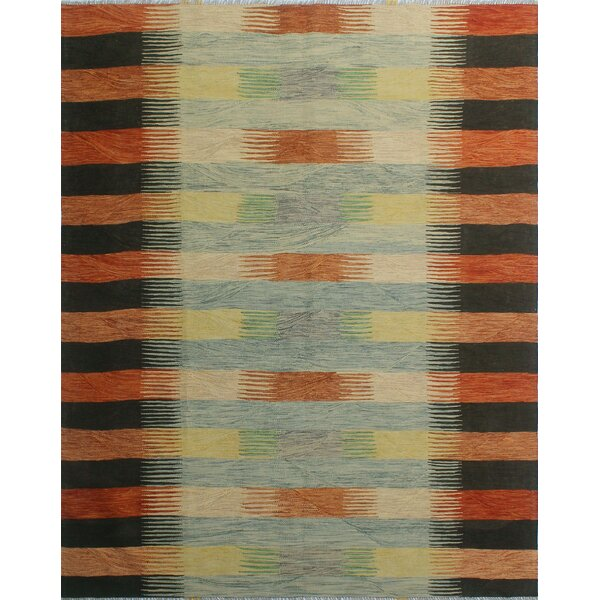 Dickie Hand-Knotted Wool Brown/Black Area Rug by Bloomsbury Market