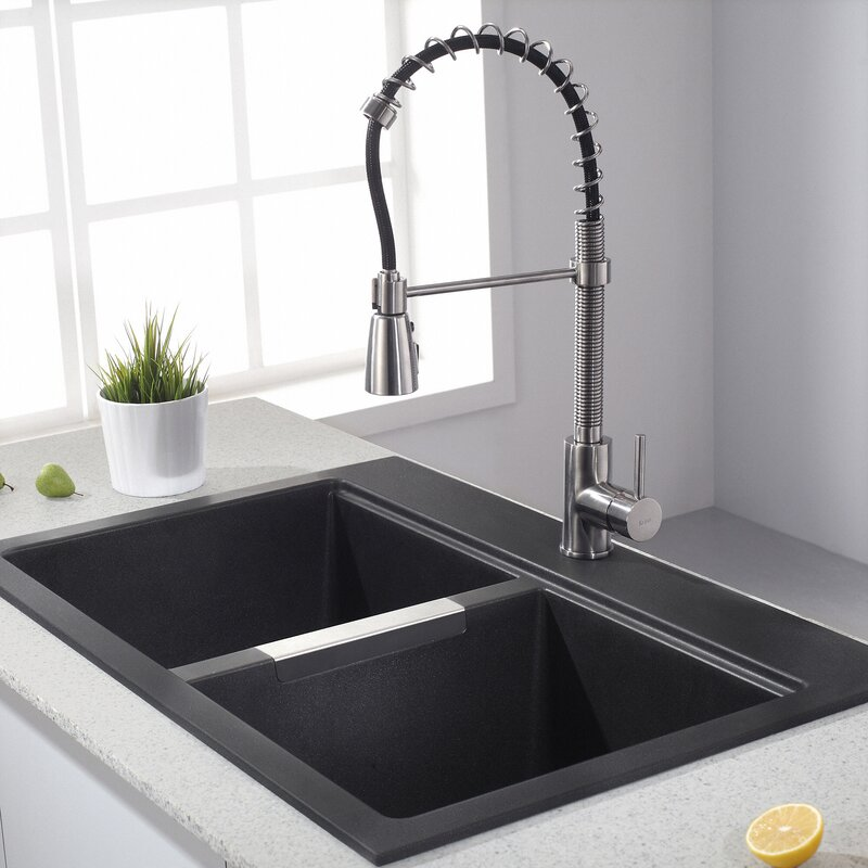 Kraus Pull Down Single Handle Kitchen Faucet & Reviews | Wayfair