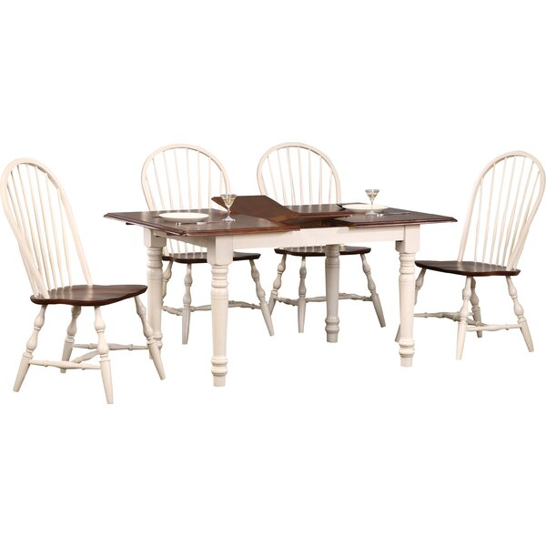 Aponte Butterfly Leaf 5 Piece Dining Set by Loon Peak