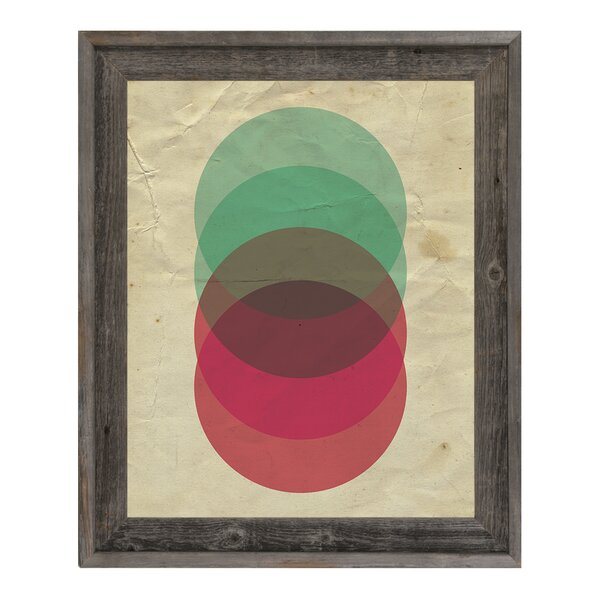 Circle Stack Framed Graphic Art on Canvas by Click Wall Art