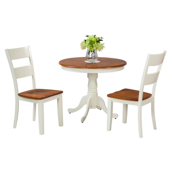 Norcross 3 Piece Solid Wood Dining Set by Highland Dunes