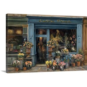 'L'artisan Fleuriste' by Marilyn Hageman Painting Print on Wrapped Canvas by Great Big Canvas