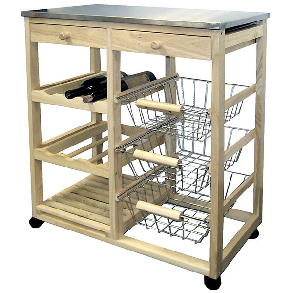 Kitchen Cart With Stainless Steel Top By ORE Furniture Find