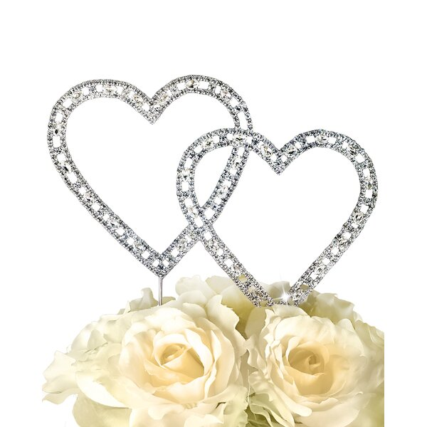 Timeless Double Heart Cake Topper by Unik Occasions
