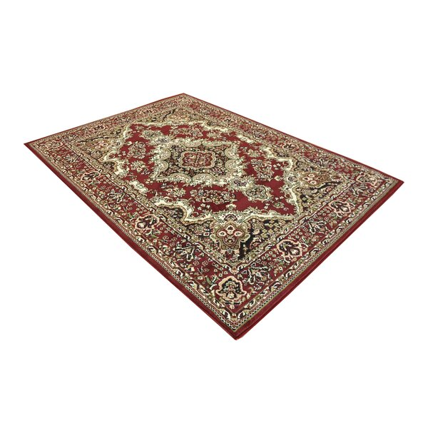 Oriental Classic Red/Black Area Rug by Samnm Trade