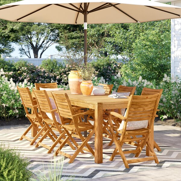 Brighton Teak 9 Piece Dining Set by Sol 72 Outdoor
