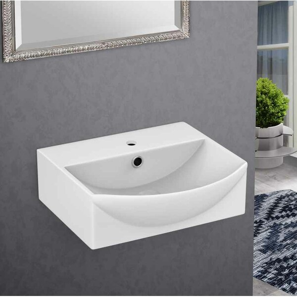 Ceramic 13.75 Bathroom Sink with Faucet and Overflow by Royal Purple Bath Kitchen