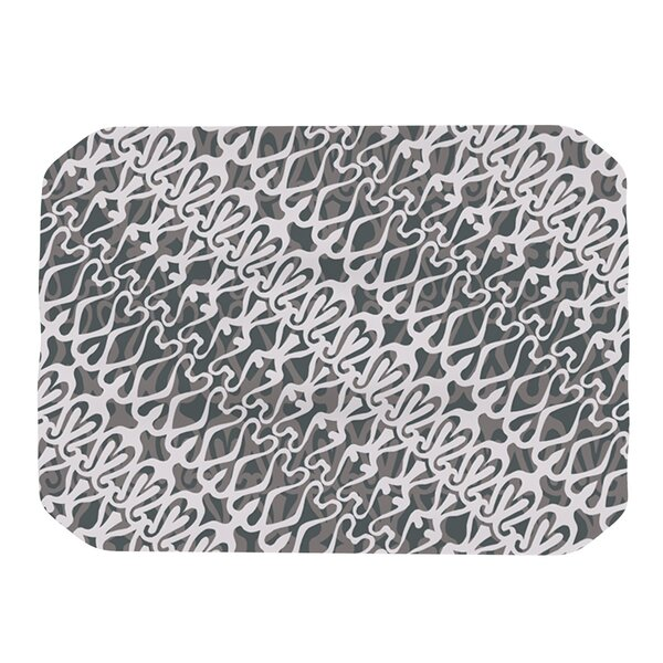 Silver Lace Placemat by KESS InHouse