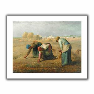 The Gleaners' by Jean Francois Millet Painting Print on Rolled Canvas by ArtWall