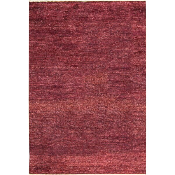 One-of-a-Kind Gabbeh Hand-Knotted Wool Wine Area Rug by Bokara Rug Co., Inc.