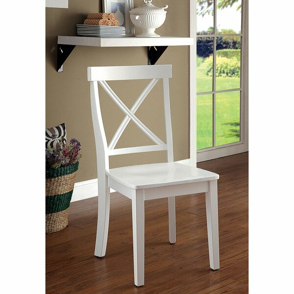 Fausley Cross Back Side Chair In White (Set Of 2) By August Grove