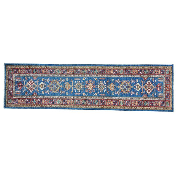 One-of-a-Kind Tillman Super Hand-Knotted Denim Blue Area Rug by Millwood Pines