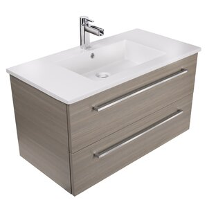 30 inch bathroom vanity with sink. Silhouette 30  Wall Mounted Single Bathroom Vanity Set Modern Inch Vanities AllModern