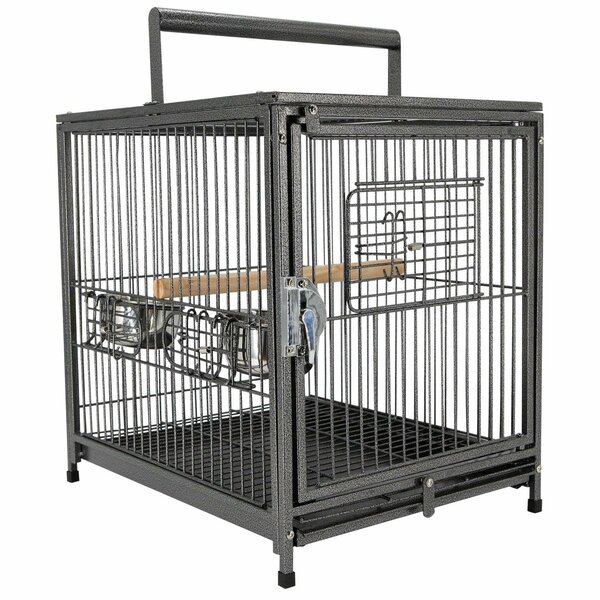Baca Travel Bird Cage with Handle Perch by Tucker Murphy Pet