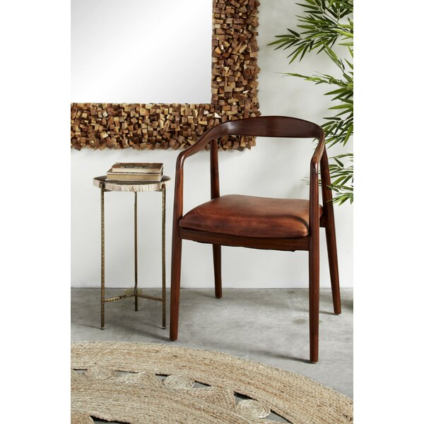 Flood Genuine Leather Upholstered Dining Chair by Union Rustic