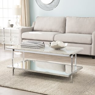 Low priced Skipton Faux Marble Coffee Table By Everly Quinn