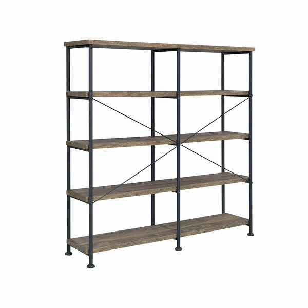 Nortonville 4 Tier Wood And Metal Frame Standard Bookcase By Gracie Oaks
