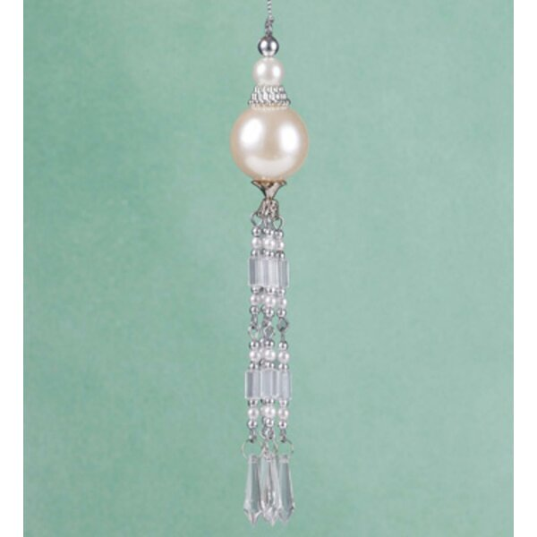 Elegant Faux Pearl Beaded Dangle Pendant Christmas Hanging Figurine by The Holiday Aisle