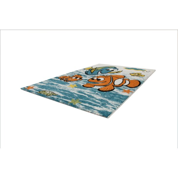 Howton Kids Finding Nemo Fish Blue/Orange Area Rug by Zoomie Kids