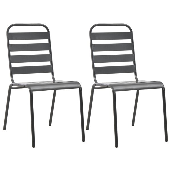 Clintwood Stacking Patio Dining Chair (Set of 2) by Williston Forge Williston Forge