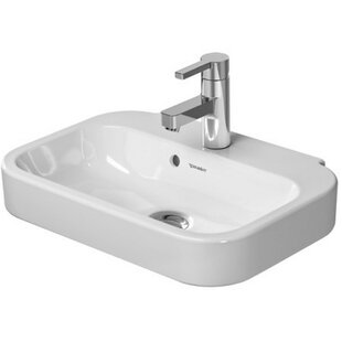 Shop For Happy D. Ceramic 20 Wall Mount Bathroom Sink with Overflow ByDuravit