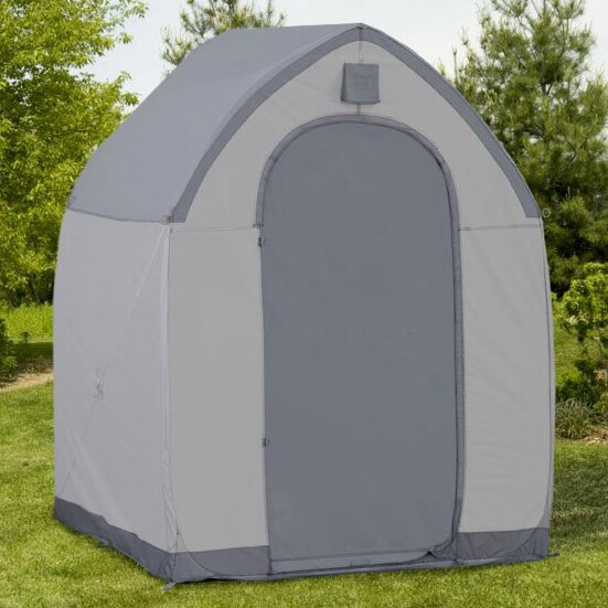 MoonDrop 5 ft. W x 5 ft. D Portable Storage Shed by Flowerhouse