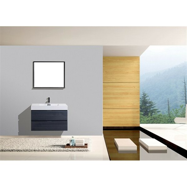 Tenafly 36 Single Wall Mount Bathroom Vanity Set by Wade Logan