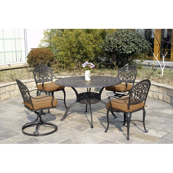 Merlyn 5 Piece Patio Dining Set by Fleur De Lis Living