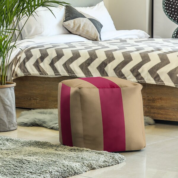 Boston Fly Stripes Cube Ottoman By East Urban Home