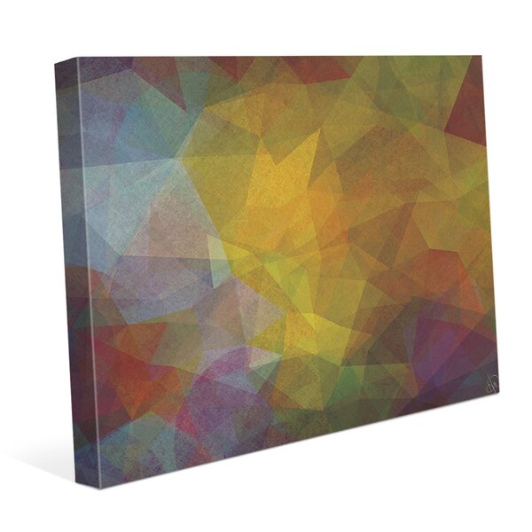 Citrine Crystals Graphic Art on Wrapped Canvas by Click Wall Art