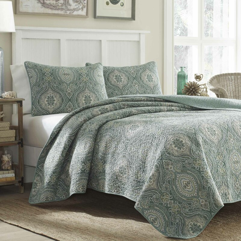Tommy Bahama Bedding Turtle Cove Lagoon 136 Thread Count 100 ... : quilted bed sheets - Adamdwight.com