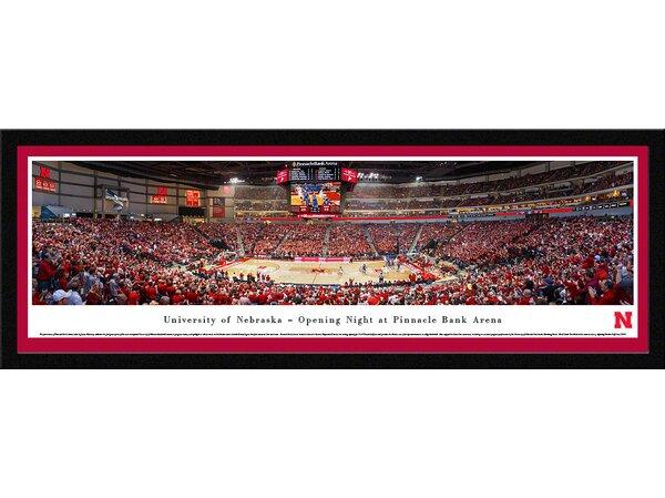 NCAA Nebraska, University of - Basketball by James Blakeway Framed Photographic Print by Blakeway Worldwide Panoramas, Inc