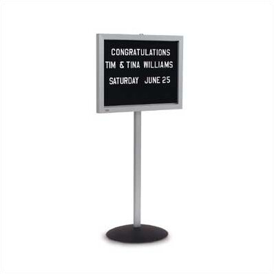 Single Pedestal Free-Standing Letter Board by Marsh